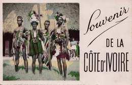 ABIDJAN (Cote D'Ivoire) - Danseurs De Man., Gel.195?, 2 Sondermarken - Côte-d'Ivoire