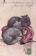 GATTI-CHATSCHINCHILLA'-CATS-ILL.Ophelia Philinge 1916-ORIGINALE 100% - Chats