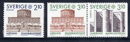 SWEDEN 1987 Europa: Architecture MNH / **.  Michel 1428-30 - Unused Stamps