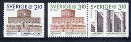 SWEDEN 1987 Europa: Architecture MNH / **.  Michel 1428-30 - Sweden