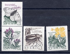 SWEDEN 1987 Meadow And Woodland Nature  MNH / **.  Michel 1423-26 - Sweden