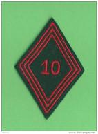 Insigne Tissu Losange De Bras 10éme Régiment Du Train - Patches