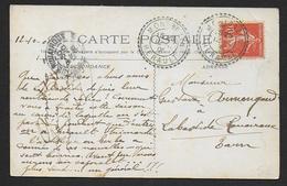 Hérault - Cachet  Pointillé  MONTBAZIN - Marcophilie (Lettres)