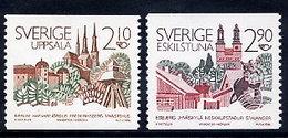SWEDEN 1986 Scandinavian Town Partnerships MNH / **.  Michel 1395-96 - Unused Stamps
