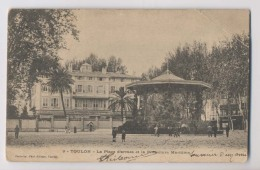 TOULON - 1903 - La Place D'Armes Et La Préfecture Maritime  - Animée - Toulon
