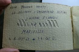 D 13 - Carnet De 10 Cartes Postales De Marseille - Appartenu à Trubert Maurice 43 Régiment D'infanterie - 1942 - Marsella