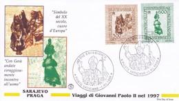 Vatikan, 1998.  Mi: 1263 + 1264. Papstreisen  Sarajewo + Prag - Vatican