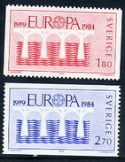 SWEDEN 1984 Europa: 25th Anniversary  MNH / **.  Michel 1270-71 - Unused Stamps