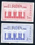 SWEDEN 1984 Europa: 25th Anniversary  MNH / **.  Michel 1270-71 - Sweden