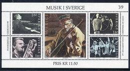 SWEDEN 1983 Music In Sweden Block MNH / **.  Michel Block 11 - Unused Stamps