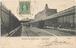VALPARAISO STAZIONE ESTACION DE BELLA-VISTA - Stazioni Con Treni