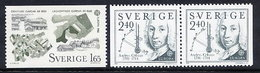 SWEDEN 1982 Europa: Historical Events MNH / **.  Michel 1187-88 - Unused Stamps