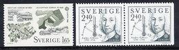 SWEDEN 1982 Europa: Historical Events MNH / **.  Michel 1187-88 - Sweden