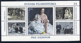 SWEDEN 1981 History Of Swedish Film Block MNH / **.  Michel Block 9 - Suède