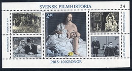 SWEDEN 1981 History Of Swedish Film Block MNH / **.  Michel Block 9 - Blocs-feuillets
