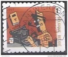 Belgique 2007 COB 3715A O Cote (2016) 1.20 Euro Machine à écrire Remington Cachet Rond - Gebraucht