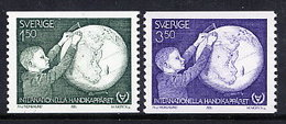 SWEDEN 1981 Year Of The Dusabled MNH / **.  Michel 1143-44 - Unused Stamps