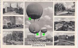 BITTERFELD Sachsen Anhalt Bahnhof Startplatz Ballon Wettfliegen Aufschrift HERMANN GÖRING Fabrik TOP-Erhaltung Ungelaufe - Fesselballons