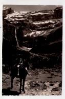 CP 9*14-ROS1049-GAVARNIE LE CIRQUE ET LA CASCADE JEUNE GARCON SUR UN ANE 1956 - Gavarnie