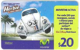 Argentina-Auto Herbie 20$,exp.date:31/12/2010,used - Argentina