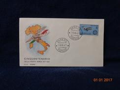 CINQUANTENARIO DELLA POSTA AEREA 1917 1967 BUSTA / CARTOLINA - Aviazione