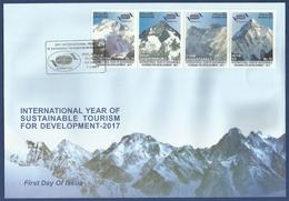 PAKISTAN MNH 2017 FDC FIRST DAY COVER INTERNATIONAL YEAR SUSTAINABLE TOURISM  K2 NANGAPARBAT GASHERBRUM PEAK MOUNTAIN