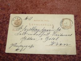 Wien Szekesfehervar Austria Hungary Postcard Carte Postale Ansichtskarten 1881 - 1850-1918 Impero