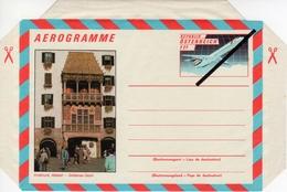 """Austria Österreich Specimen Aerogramme ** 1987 Airplane, """"Golden Roof"""" Sp-IV - Stamped Stationery"""