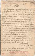 Lettre De Lally-Tollendal Rappelant Sa Demande D'être Proposé à Louis XVI Comme Un De Ses Défenseurs - 1792 - Histoire