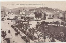 108. NICE . PLACE MASSENA . LE CASINO ET LES JARDINS + NOMBREUX TACOTS §§ . NON ECRITE - Monuments, édifices