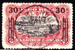Belgian Congo 1922 25c On 30c On 10c Surcharge Inverted. Scott 86. SOTN Cancel.