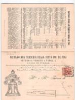 14950 01  FONDERIA DE POLI CAMPANE VITTORIO VENETO VENEZIA - 1878-00 Humbert I