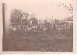 Foto Deutsche Wehrmacht - Soldatenfriedhof - 2. WK - 5,5*4cm (26612) - Guerra, Militari
