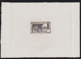 Middle Congo 1933 Rubber Trees. Die Proof Missing Value. Scott Type D5.