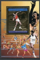 Central African Republic, 1983, Olympic Games Los Angeles, Shot Put, MNH Gold Sheet, Michel Block 254A - República Centroafricana