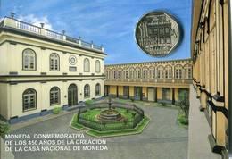 Lote PM2015-4, Peru, 2015, Moneda, Coin, Folder, 1 N Sol, 450 Años De La Creacion De La Casa Nacional De La Moneda - Perú