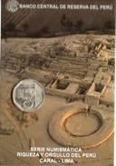Lote PM2014-1, Peru, 2014, Moneda, Coin, Folder, 1 N Sol, Caral, Indigenous Theme - Perú