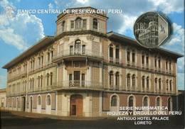 Lote PM2014-3, Peru, 2014, Moneda, Coin, Folder, 1 N Sol, Loreto, Art Nouveau - Perú
