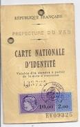 CARTE D'IDENTITE FRANCAISE  DOMICILE PLAN DE LA TOUR  VAR 1974 - Mappe