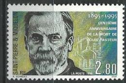 """SPM YT 609 """" Louis Pasteur """"1995 Neuf** - St.Pierre & Miquelon"""