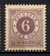 Svezia 1877 Unif.19/I (*)/NG VF/F