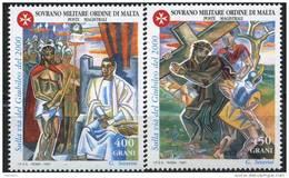 PIA - SMOM - 1997 : Verso L´Anno Santo Del 2000 - Stazioni Della Via Crucis Dipinte Da Gino Severini - (UN 532-35) - Malte (Ordre De)