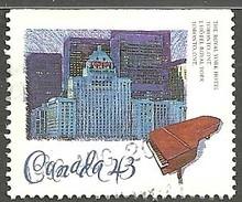 Sc. #1469 Historic CPR Hotels, Royal York Hotel, Toronto 1993 Single Used K611 - 1952-.... Règne D'Elizabeth II