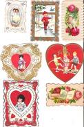 14 Valentine Cards Antique Some Used  Valentine Set # 1 - Seasons & Holidays