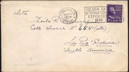 Estados Unidos 1939 San Francisco - La Paz. Matasello Exposicion Internacional. See. - Etats-Unis