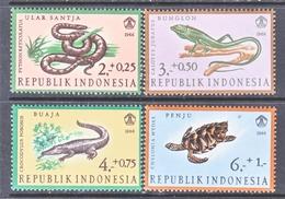 INDONESIA  B 203-6   *  RETILES  SNAKE,  LIZARD,  TURTLE, - Indonesia