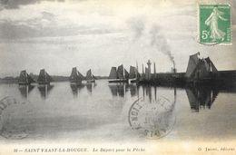 Saint-Vaast-la-Hougue (Manche) - Le Départ Pour La Pêche - Edition G. Jasset - Saint Vaast La Hougue