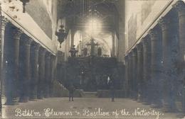 CARTE-PHOTO VERITABLE . BETHL'M . COLUMMS & BASILICA OF THE NATIVITY .. NON ECRITE - Jordanie