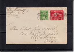 U.S.POSTAGE Entier 2c + Compl De 1c Sur Lettre De MANITOU Colorado Le 17 NOV 1932 Pour ALTADENA California