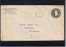U.S.POSTAGE Entier 1c  Sur Lettre De NEW YORK  Annee 1921 Pour WINTERTHUR Suisse